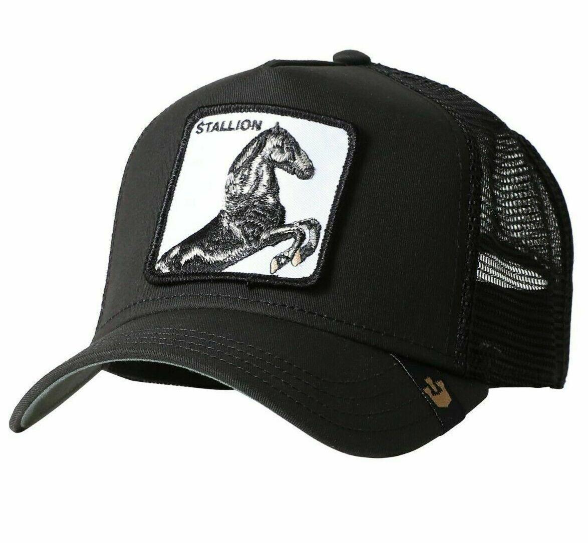 Кепка Бейсболка Тракер с сеткой Goorin Brothers Animal Farm Stallion с Конем Черная