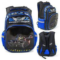 Рюкзак школьный C 43552 (36) 3D рисунок, 1 отделение, 2 кармана, дышащая спинка, в пакете [Пакет- 6900067435521  C43552 (TC142759)