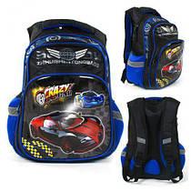 Рюкзак школьный C 43553 (36) 3D принт, 1 отделение, 2 кармана, ортопедическая спинка, в пакете [Пакет- 6900067435538  C43553 (TC142760)