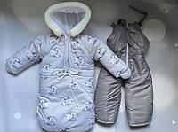 Детский зимний комбинезон-тройка на овчине.., фото 1