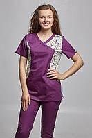 Женский медицинский костюм с зауженныии брюками. ( 9 расцветок)
