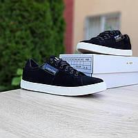 Мужские кроссовки в стиле Calvin Klein черные на белой, фото 1