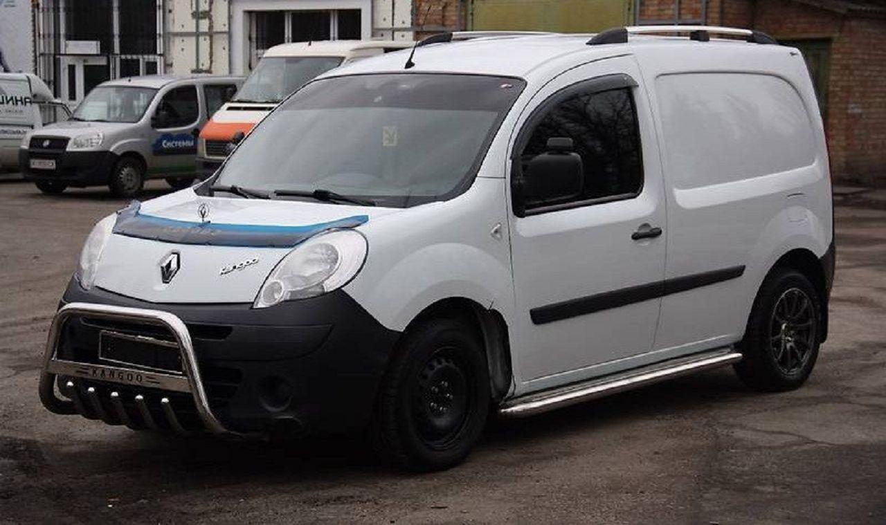 Пороги с листом (площадка) на Renault Kangoo TAMSAN нержавейка (длинный L2)