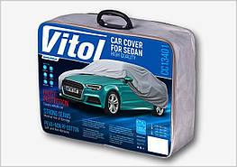 Тент Легковой автомобиль L серый с подкладкой PEVA+PP Cotton (482х178х119) Vitol