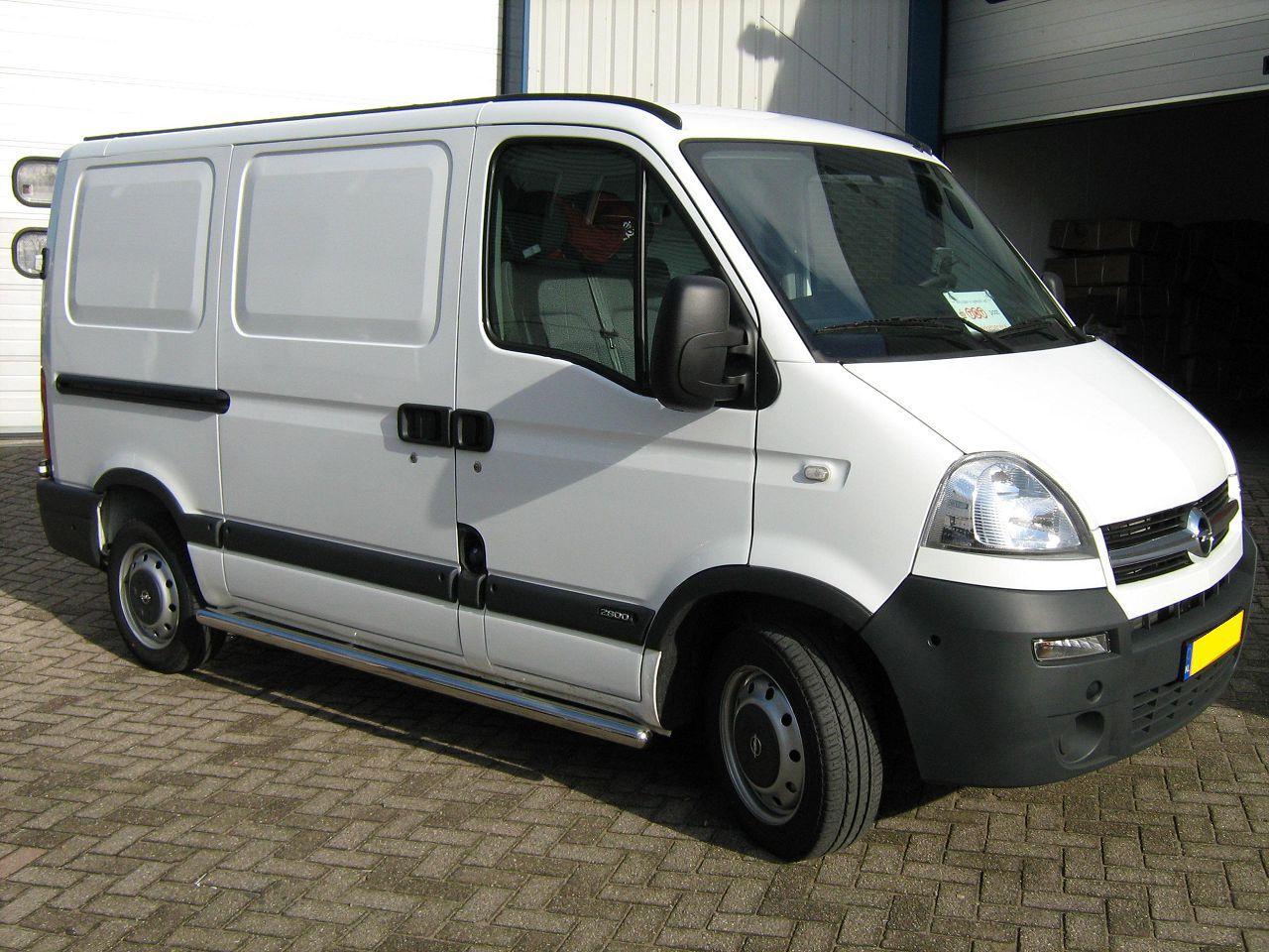 Пороги труба с проступью на Opel Movano 1998-2010 (3 проступи)