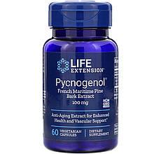 "Пикногенол Life Extension ""Pycnogenol French Maritime Pine Bark Extract"" 100 мг (60 капсул)"