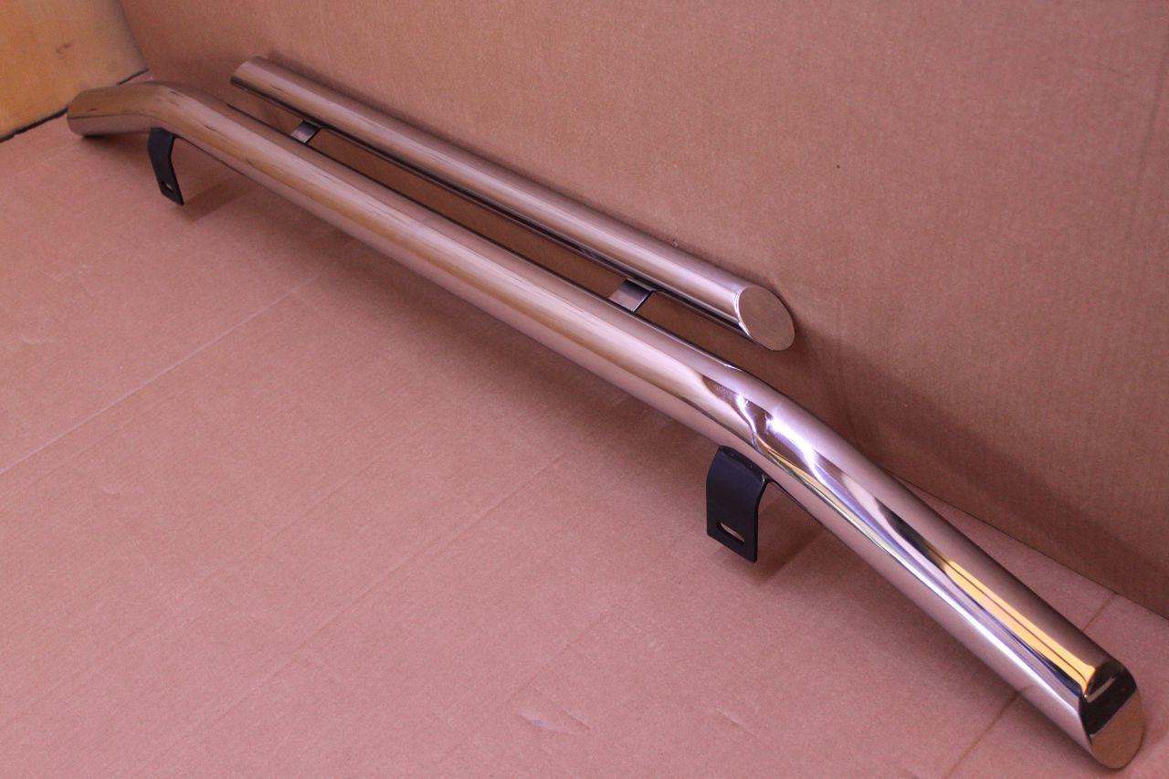 Труба двойная на Renault Logan MCV (60 диаметр)