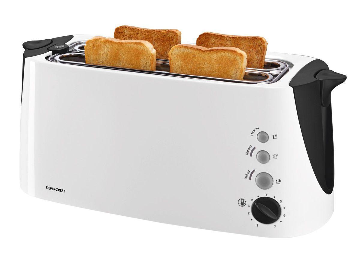 Тостер на 4 тоста SIlver Crest SDLT 1500 A2 белый