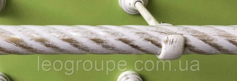 Карниз кованый труба крученая 19 мм белое золото -2м