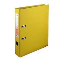 Папка-регистратор Delta двухст. PP 5 см, собранная, жолтая