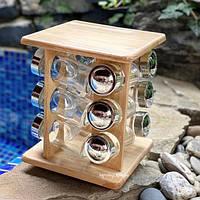 Набор для специй на деревянной подставке Stenson MS-0375 ( емкость для специй )