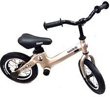 Беговел детский велобег карбоновый золотистый велосипед SpaceBaby (Maserati Edition)