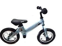 Беговел детский велобег карбоновый голубой велосипед SpaceBaby (Maserati Edition)