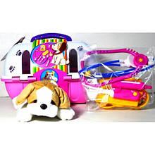 Собака в чемодане с аптечкой 121