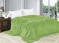 Меховой плед покрывало Травка Евро 220x240 Зеленый 1005686, КОД: 1659594