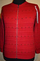 Женские кофточки на молнии с люрексовыми квадратиками    больших размеров