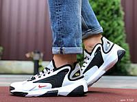 Кроссовки мужские демисезонные в стиле Nike Zoom 2K, белые с черным \ красным