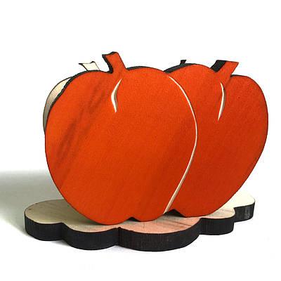 Серветниця-яблука з різьбою *помаранчеве*