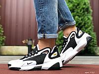 Кроссовки мужские демисезонные в стиле Nike Zoom 2K, белые с черным