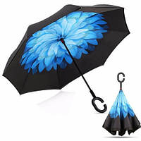 Ветрозащитный зонт Up-Brella антизонт Зонт обратного сложения! Топ продаж