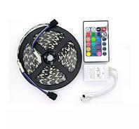 Комплект светодиодной LED ленты SMD 5050 RGB 5м + Адаптер + Контроллер + пульт цветная! лучшее качество