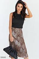 Стильная юбка с леопардовым принтом XS S M L, фото 1