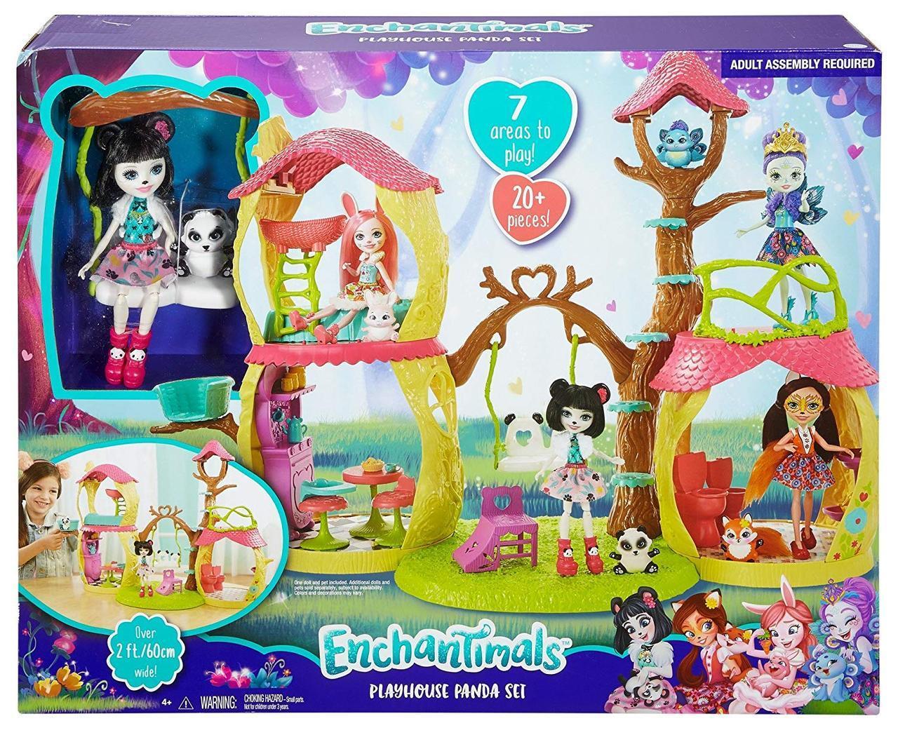 Enchantimals Будиночок Панди (Енчантималс игровой набор Лесной домик панды Panda Tree House Mattel GNC57)