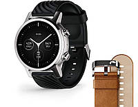 Смарт часы Moto 360 3rd Gen 2020 - Wear OS by Google Steel Gray в комплект 2 ремешка