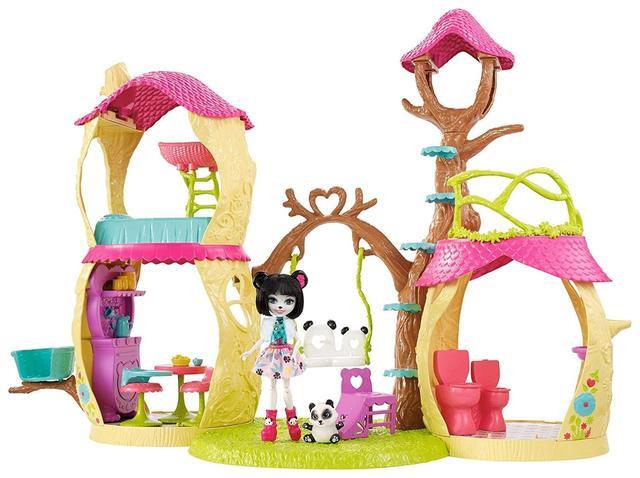 Enchantimals Будиночок Панди (Енчантималс игровой набор Лесной домик панды Panda Tree House Mattel  FCG94)