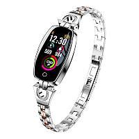 Умный браслет Smart band H8 Luxury Waterproof IP67 Silver, КОД: 951355
