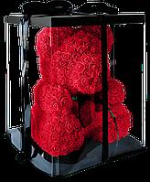 Мишка с сердцем из 3D роз Teddy Rose 40 см Красный в подарочной упаковке! лучшее качество