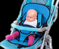 Бескаркасное детское автокресло | кресло для ребенка в машину | детское автомобильное кресло синее! Хит продаж