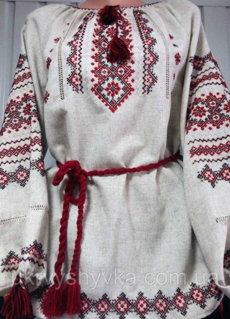 """Вишита блузка ручної роботи """"Жанна"""" льон"""