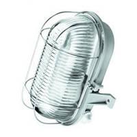 Светильник НПП серый/овал 60W IP44 OVAL метал.реш.