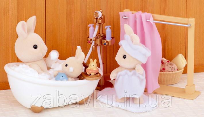Sylvanian Families Bath and Shower Сільваніан фемеліс набір ванна кімната Сильваниан фэмелис ванная комната