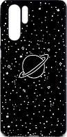 Чехол-накладка TOTO Cartoon Soft Silicone TPU Case для Huawei P30 Pro Saturn Black 97103, КОД: 1295513