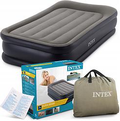 Надувная велюр-кровать Intex 64132 с встроенным электронасосом 220 В