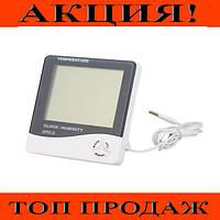 Цифровой термометр-гигрометр HTC-2 с выносным датчиком температуры!Хит цена