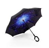 Ветрозащитный зонт Up-Brella   антизонт   зонт обратного сложения   зонт наоборот (Космос)! Лучшая цена
