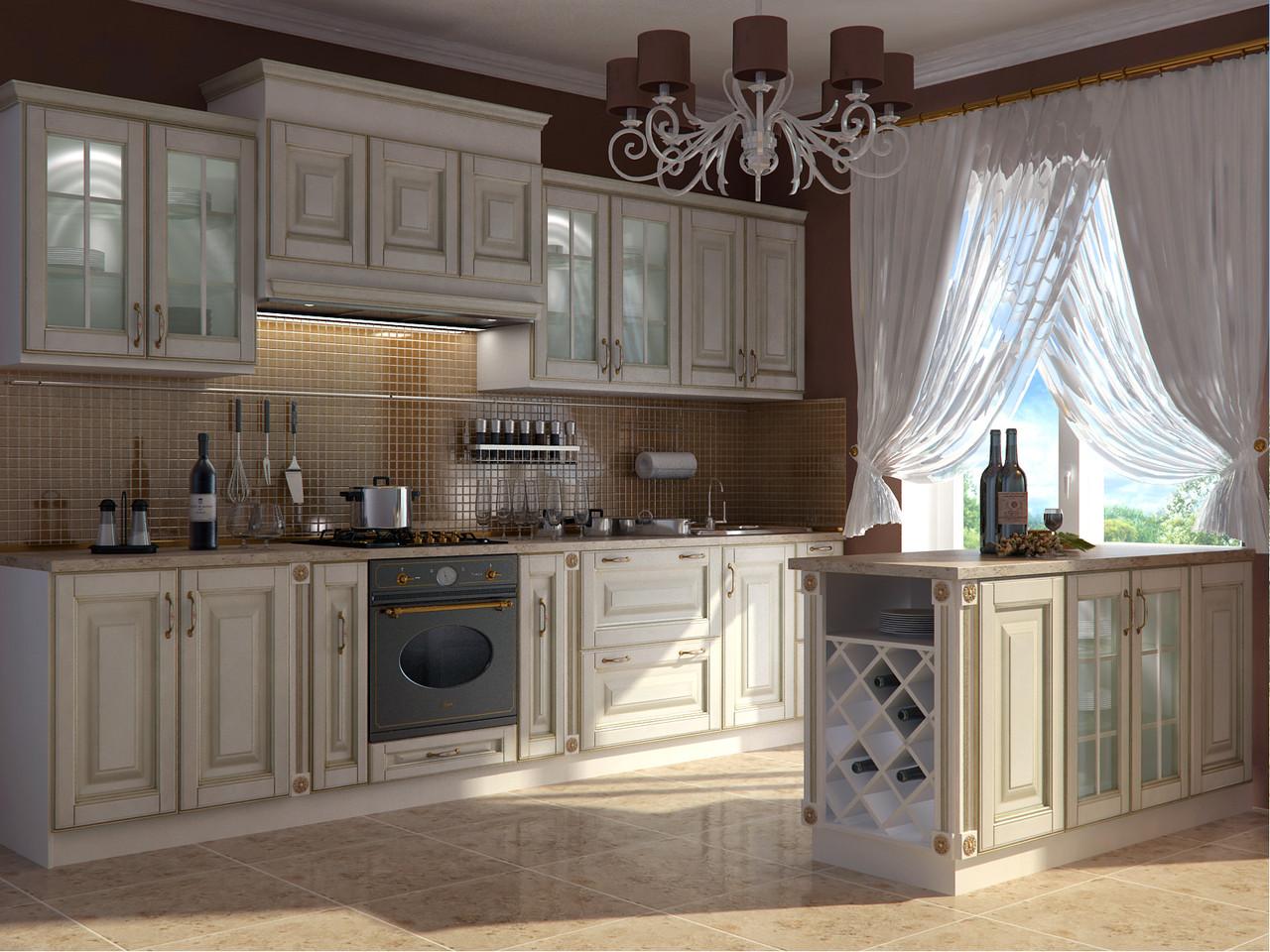Кухня МДФ крашенный белый