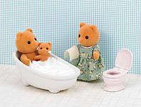 Sylvanian Families Bath and Toilet set набор сильваниан фемели ванна туалет