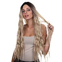Длинный парик на сетке из искусственных волос Joyce Full Lace без челки, термоволосы, цвет блондин