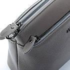 Сумка-клатч кожаная женская Alex Rai  (23x16x11 см) grey, фото 4