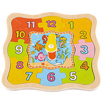 Деревянная игрушка часы T22-024
