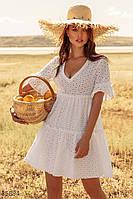 Легкое ажурное платье S,M, фото 1