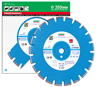 Отрезной сегментный диск (бетон,тротуар) 1A1RSS/C1-W CLASSIC PLUS 350x3,2/2,2x25,4-11,5-21-ARP 40x3,2x8+2 R165
