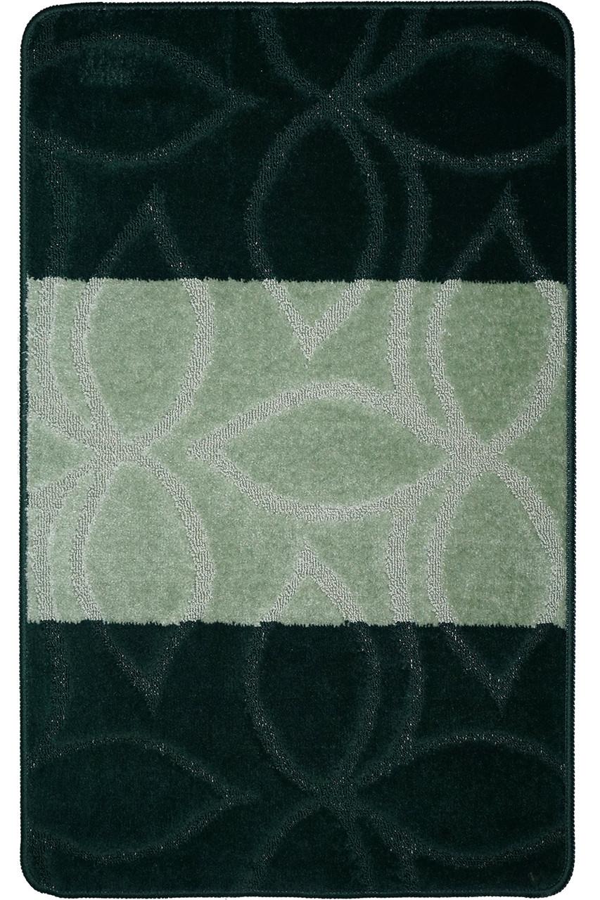 Набор ковриков для ванной, 60х100 + 60х50см. Листья, зеленый