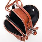 Сумка-клатч кожаная женская Alex Rai  (16x19x9 см) brown, фото 3
