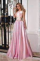 """Длинное розовое платье """"1022"""""""