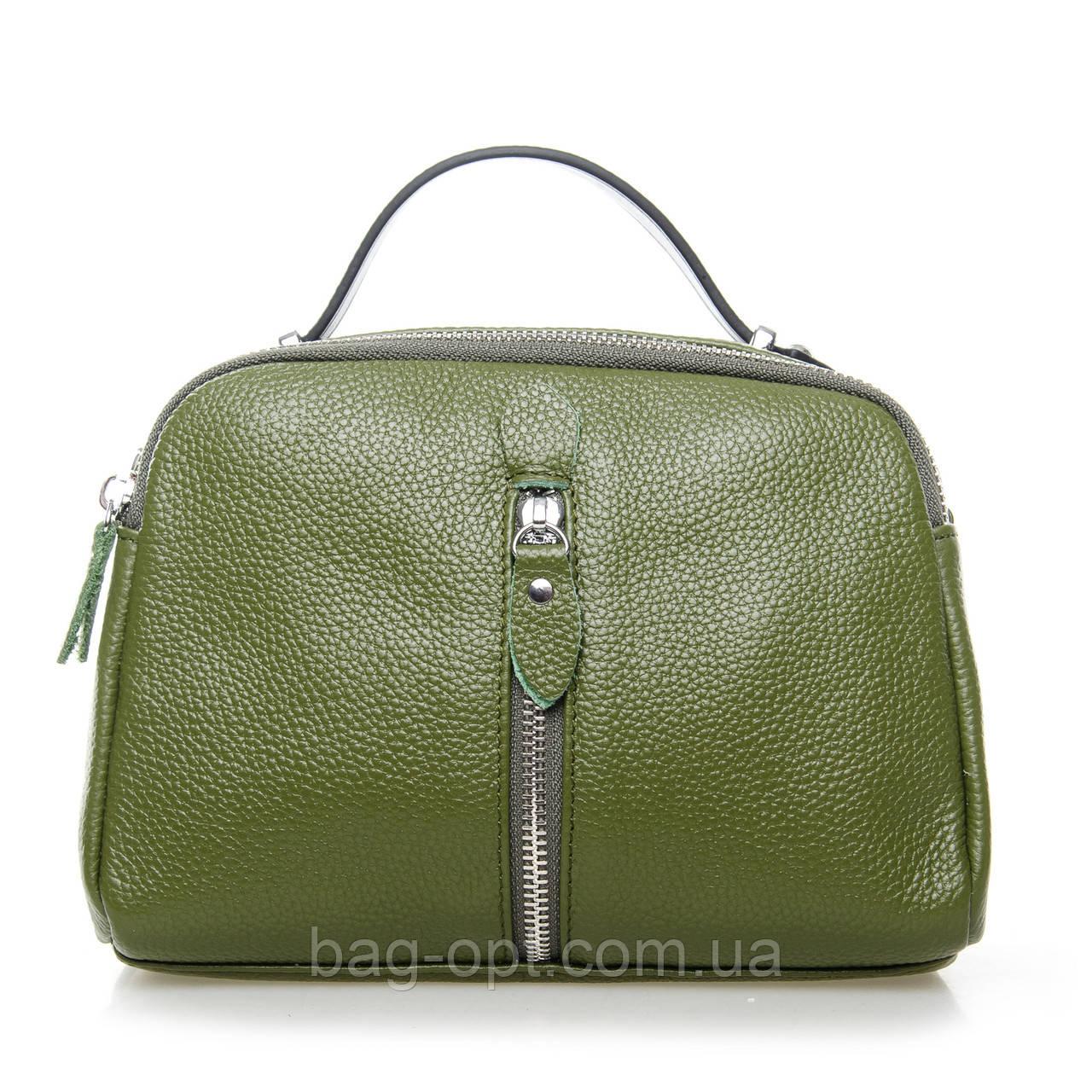 Сумка-клатч кожаная женская Alex Rai  (22x16x11 см) green
